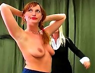 Nicoleta violates the rules against makeup and suffers a harsh whipping across her nubile body
