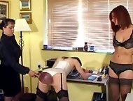Two office girls spanked and ashamed in their underwear - hot cute bottoms