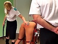 school girl receives corporal punishment