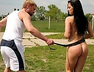 Sexy babe Aletta Ocean gets paddled hard and fucked good
