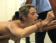 In todays corporal punishment video, Helen is strapped into a medieval contraption, exposing her soft fleshy bottom to the stiff and painful blows of